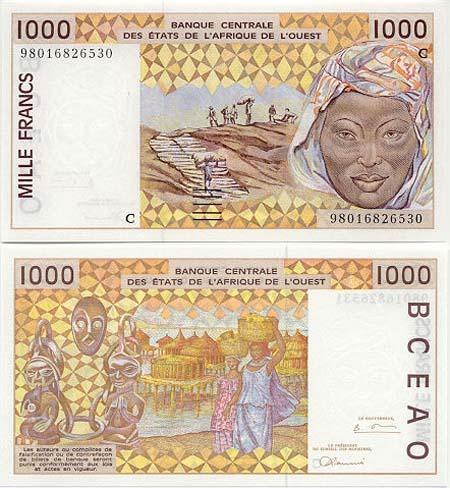 Banknote Burkina Faso