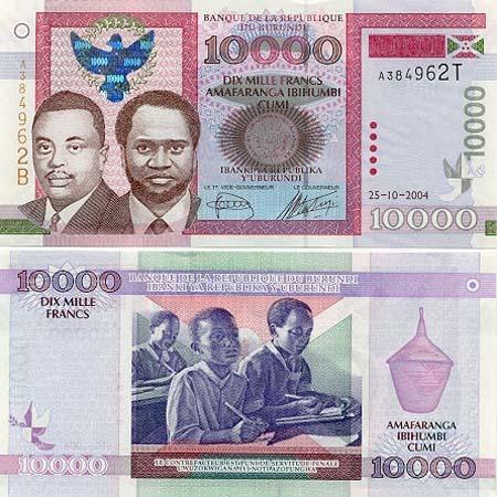 Banknote Burundi