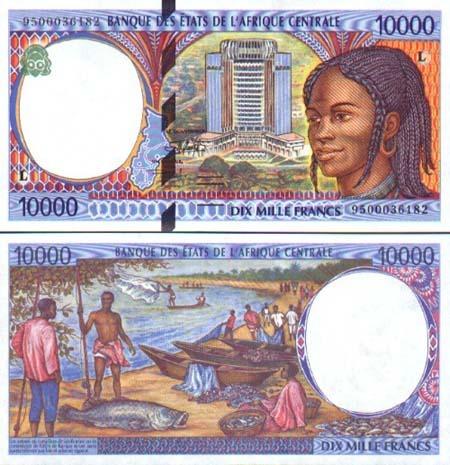 Banknote Gabun