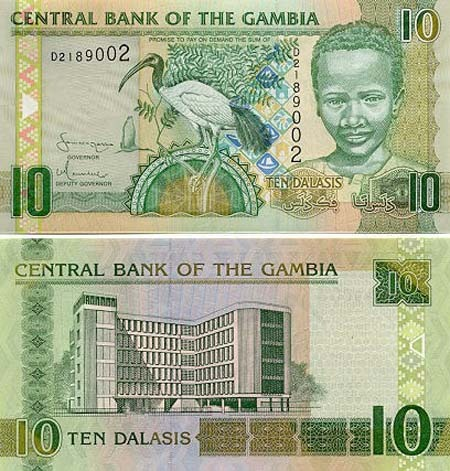 Banknote Gambia