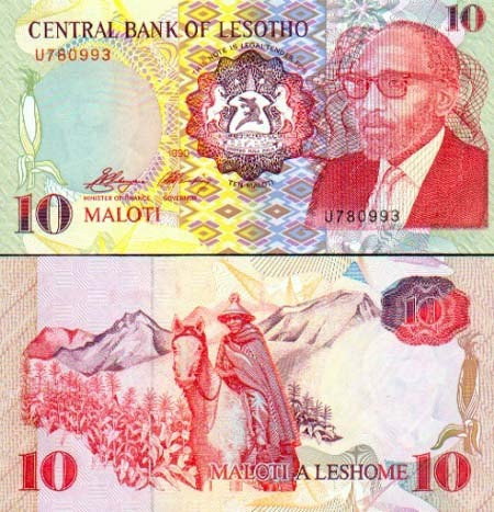 Banknote Lesotho