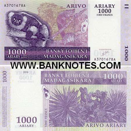 Banknote Madagaskar