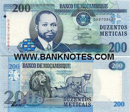 Banknote Mosambik