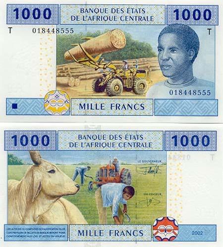 Banknote der Republik Kongo