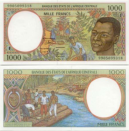 Banknote Zentralafrikanische Republik