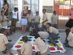 Einweihung des neu erstellten Twister-Spiels