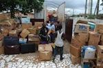 Übergabe von Sachspenden an das Nadmo um für die Flutopfern Soforthilfe zuleisten
