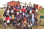 Kinder vom Kinderparadise sagen Danke