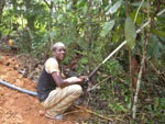 Kamerun / Wasserspritzen