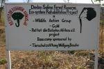 Malawi - Wild Life Action Group Schild