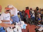 Einsatz am Horn von Afrika - Ausgabe Medikamente